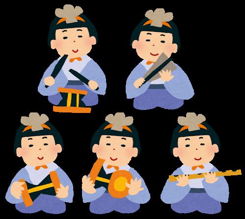 ひな祭りの五人囃子