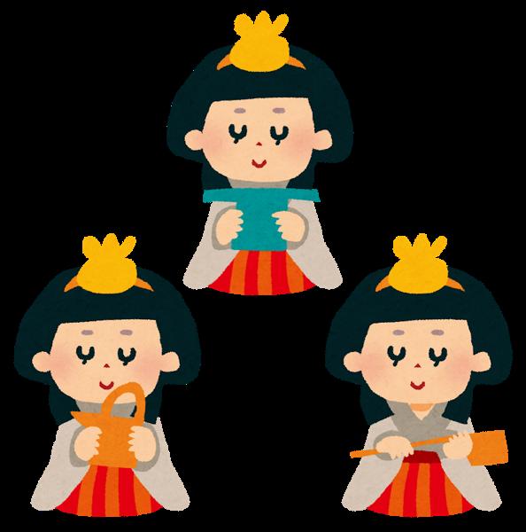 ひな祭りの三人官女