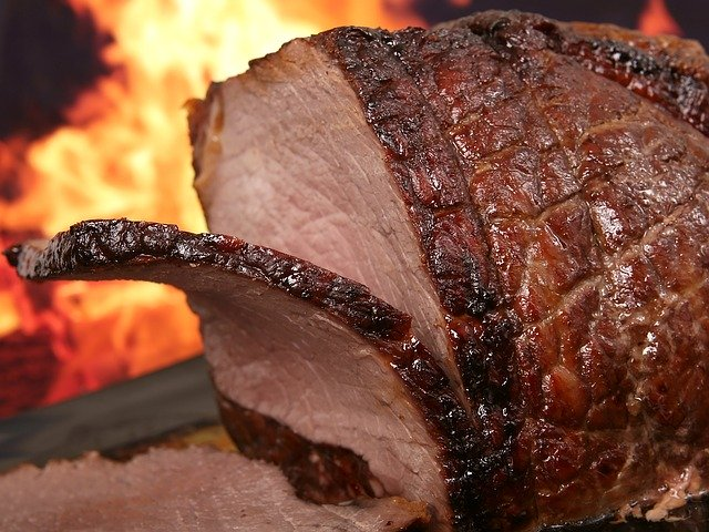 バーベキューの牛肉