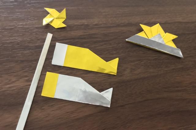 折り紙の鯉のぼりと兜