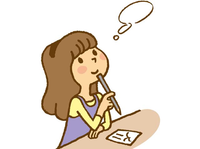 手紙を書いている女性