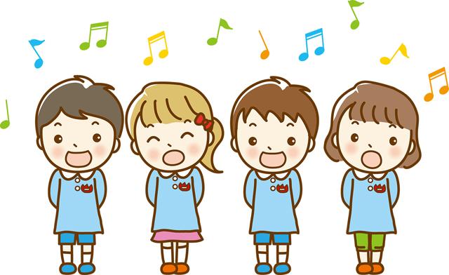歌っている園児たち